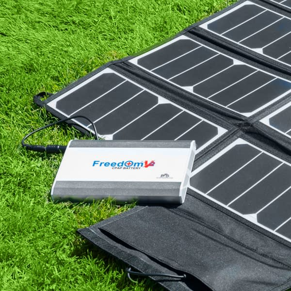 Freedom 50W Solar Panel Phone Freedom V² CPAP Battery Charging Lifestyle