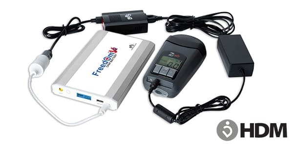 Freedom V² CPAP Battery with HDM Z2 Travel CPAP