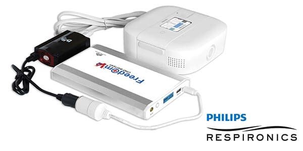 Freedom V² CPAP Battery with Philips Respironics DreamStation Go Travel CPAP