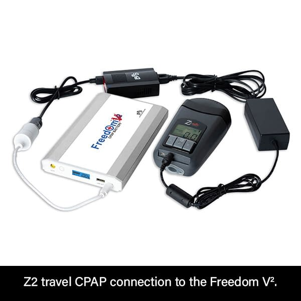 Freedom V² CPAP Battery Connection to Z2 Travel CPAP