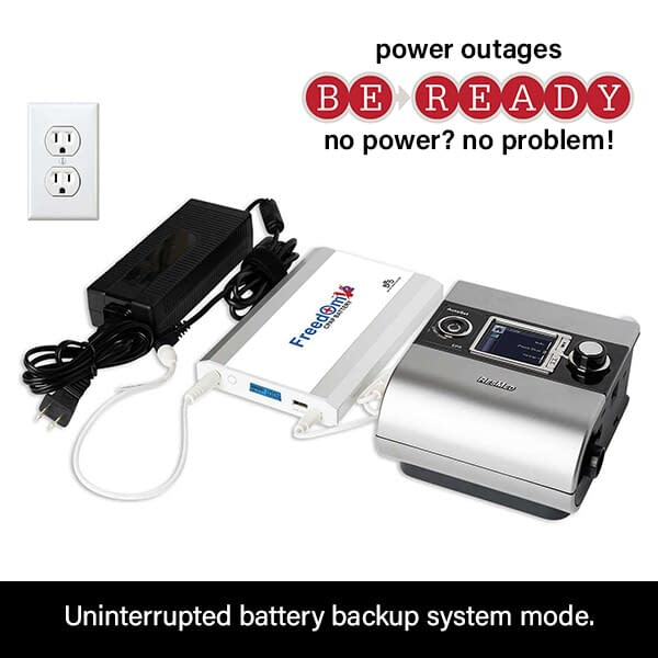 Freedom V² CPAP Battery Power Backup Connection to ResMed S9