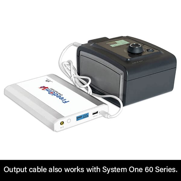 Freedom V² CPAP Battery Connection to Respironics System One 60 Series