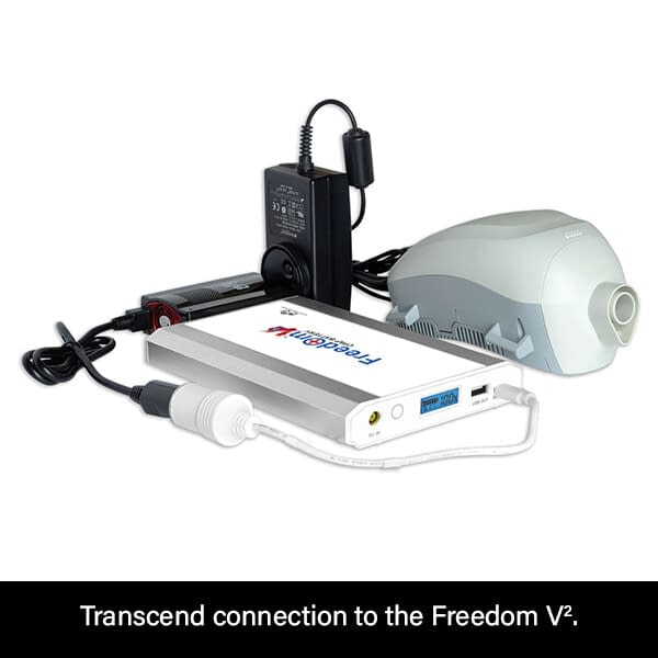 Freedom V² CPAP Battery Connection to Transcend Travel CPAP