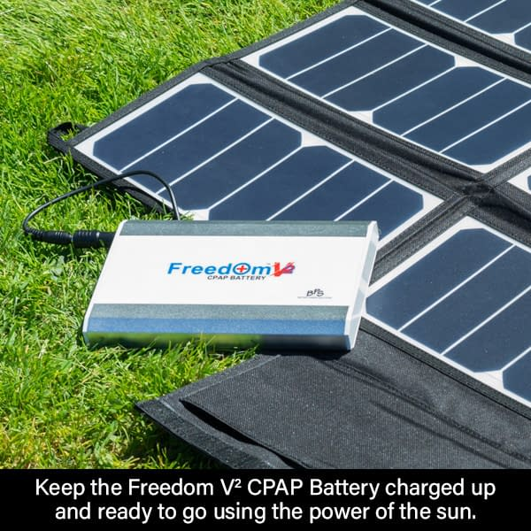 Keep the Freedom V² CPAP Battery Charged Up Using the Power of the Sun