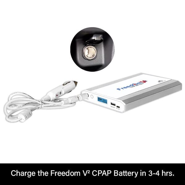 Auto Charge DC Cable Single Freedom V² CPAP Battery Charge
