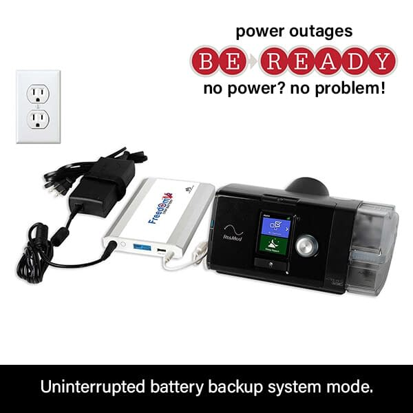Freedom V² CPAP Battery Power Backup Connection to ResMed AirSense 10