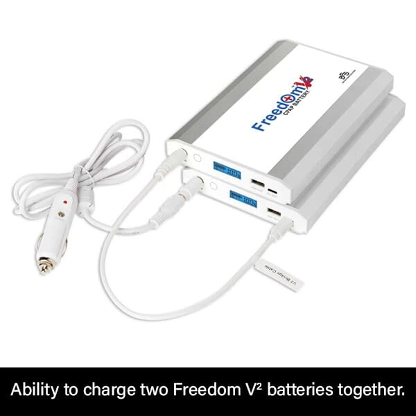 Auto Charge DC Cable Dual Freedom V² CPAP Battery Charge