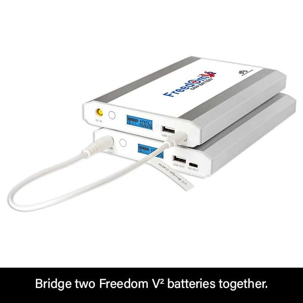 Bridge Two Freedom V² CPAP Batteries Together for Even More Power