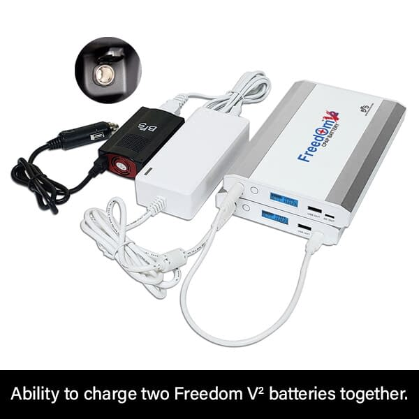 Freedom V² CPAP Battery Car Charging with Inverter (dual batteries)