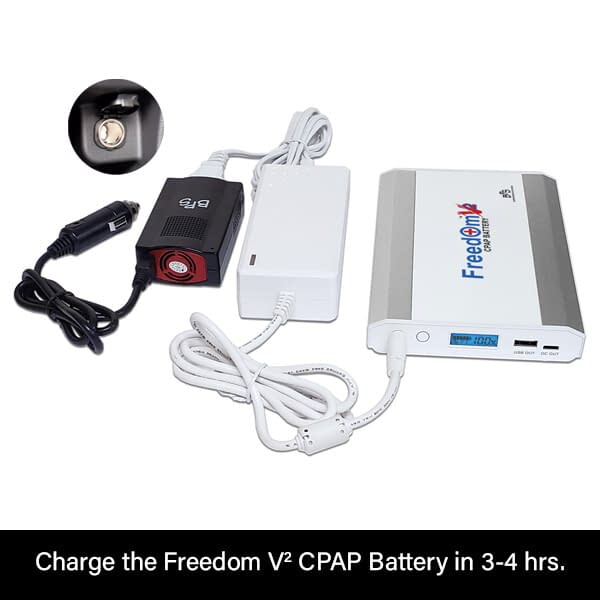 Freedom V² CPAP Battery Car Charging with Inverter