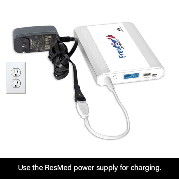 Freedom V² CPAP Battery Charging with ResMed AirMini Power Supply