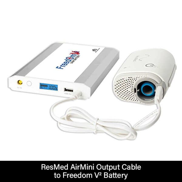 ResMed AirMini Output Cable to Freedom V² Battery