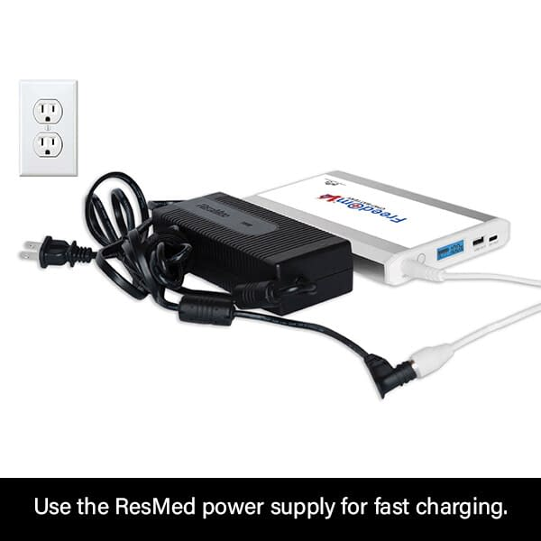 Freedom V² CPAP Battery Charging with ResMed S9 Power Supply