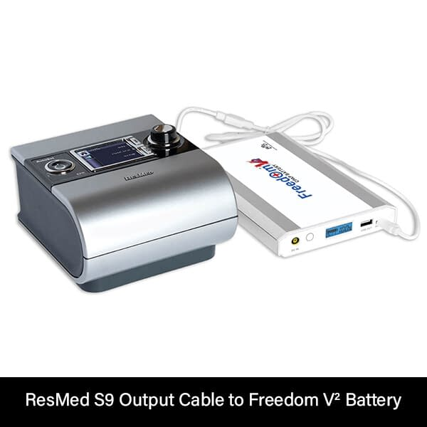 ResMed S9 Output Cable to Freedom V² Battery